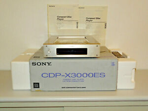 Sony CDP-X3000ES High-End CD-Player Champagner in OVP, FB&BDA, 2 Jahre Garantie