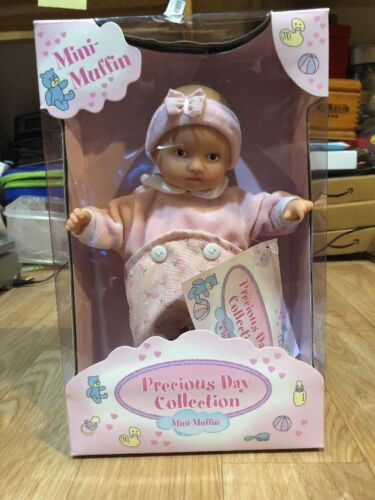 "Goetz Dolls 8"" Baby Soft Body Mini Muffin Precious Day Collection Pink Outfit"