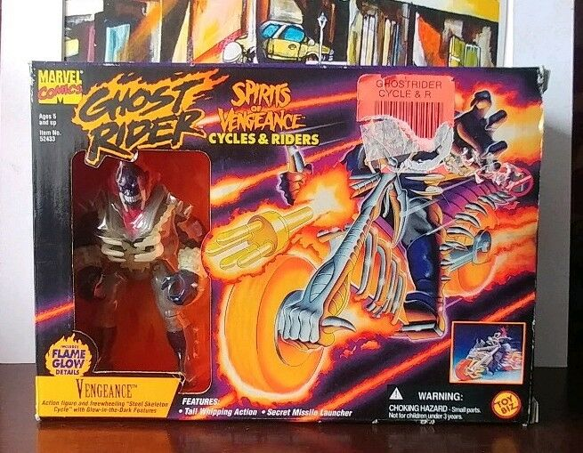 Ghost Rider Spirits Of Vengeance Cycles & And Riders Vengeance 1995 Toy Biz