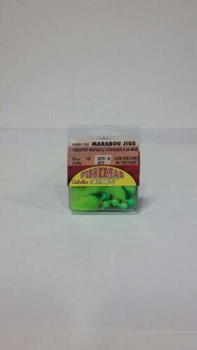 30 Cabela/'s 1//8oz MJ18-6-121G Chartruse Maribou Jigs EB160103