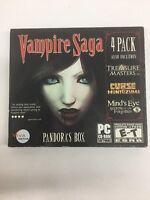 Vampire Saga 4 (Pandora's Box / Treasure Masters, Inc. / Curse of Montezuma / Mind's Eye: Secrets of the Forgotten) (PC Games, 2010) Video Games