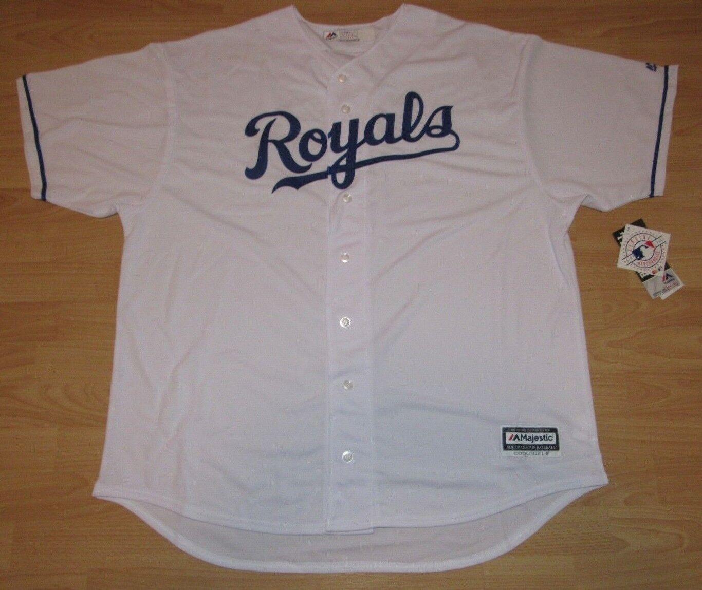 Majestic Kansas City Royals Coolbase Heim Trikot Herren Größe 4XL