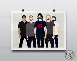 FOO-FIGHTERS-Minimalist-Band-Poster-Music-Minimal-Posteritty-Print-Art-Grohl