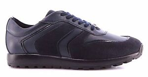 Détails Cuir Bleu Chaussures Hommes Nouveau Collection Italy Made Sur Versace In Sneakers Y7v6yfbg