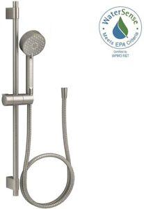 Details About Kohler Hand Held Shower Head 3 Spray Slide Bar Kit Bathroom Wall Vibrant Nickel
