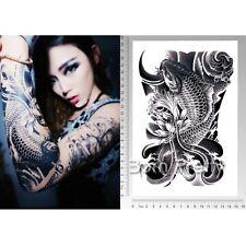 1 Stk Wasserfest Einmal Tattoo Körper Koifisch Tattoos Aufkleber Hauttattoo