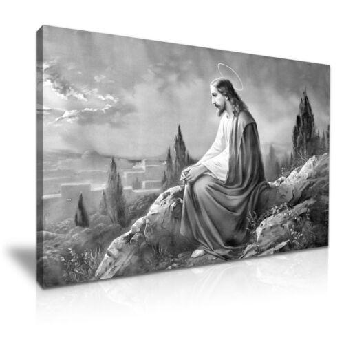 Prière de Jésus religieux catholique Toile Mur Art Image Imprime A1 76x50Cm