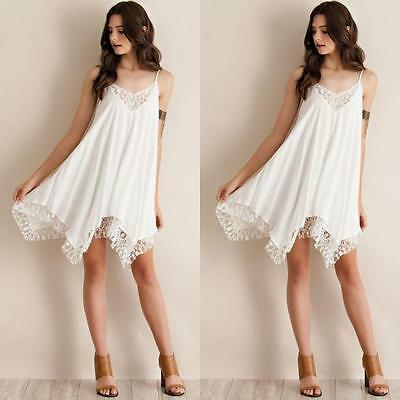 New Sexy Women Casual Summer Cocktail Party Evening Beach Lace Short Mini Dress