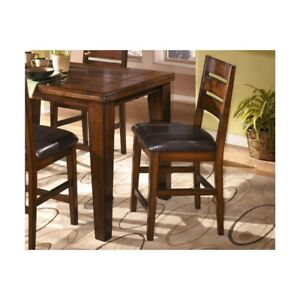 Astonishing Ashley Larchmont 25 Upholstered Counter Stool In Brown Set Of 2 Ncnpc Chair Design For Home Ncnpcorg