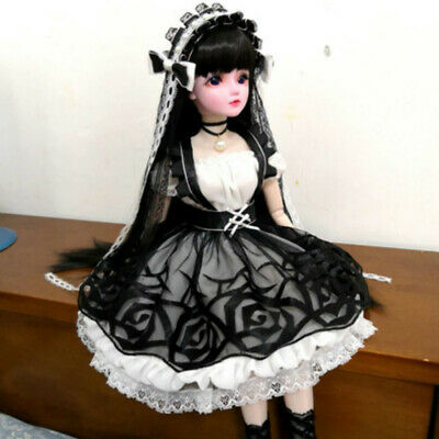 1//3 BJD SD Dollfie Doll Clothes Full Dress Student Suit Bowknot Deco AS AOD POPO