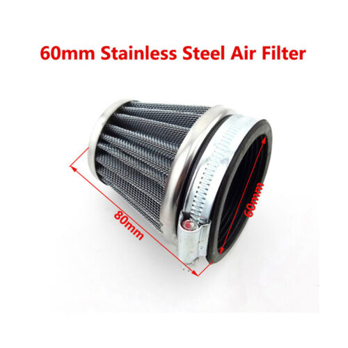 60mm Air Filter Cleaner Pod Dirt Bike ATV Quad Motorcycle Motocross