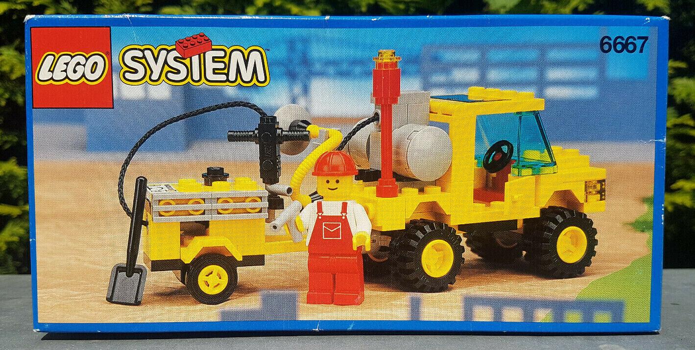 Lego City System 6667 Pothole Patcher   Straßenbau Reparaturwagen