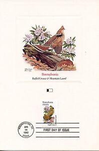 First Day Of Issue / Fdc / Oiseaux & Fleurs Des 50 Etats Des Usa / Pennsylvania éLéGant Et Gracieux