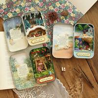 Diy Wooden Dolls House Miniature Model Kit /led Light/ All Furnitures Cases