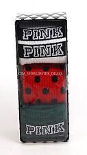 Victoria's Secret PINK 3Pack Gift Set Knee High Tube Socks Green Red White Black