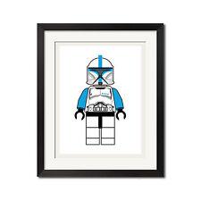 LEGO Star Wars Clone Lieutenant minifigure Urban Poster Print 0497