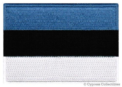 ESTONIA FLAG embroidered iron-on PATCH Eesti Vabariik ESTONIAN EMBLEM applique