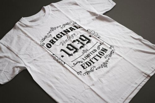 80th Birthday Born in 1939 Retro Style Vintage Limited Edition T-shirt Tee Top