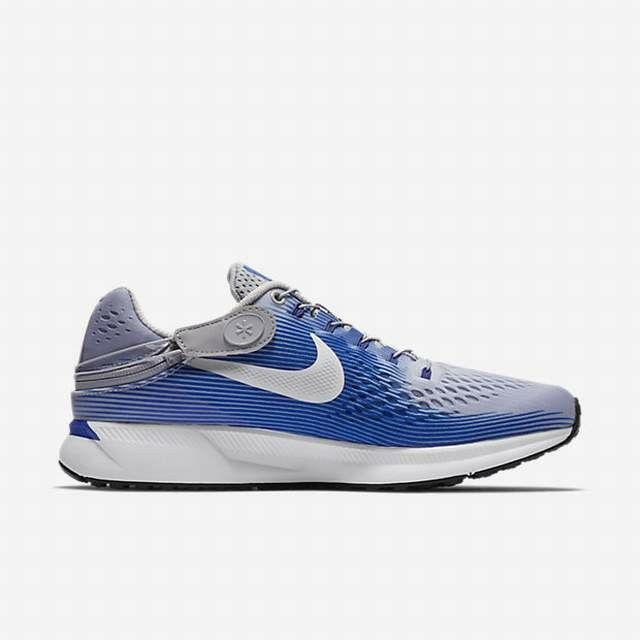 Nike Air Zoom Pegasus 34 Flyease Wolf Grey bluee Running shoes Size 9.5