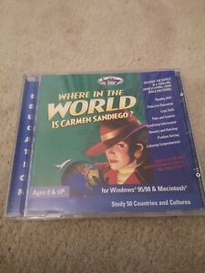 Where in the World is Carmen Sandiego CD-ROM 2000 Softkey Rare Complete