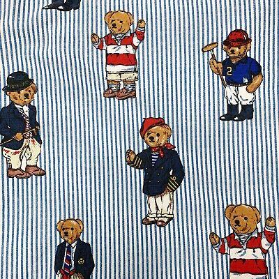 Vintage White StripedEbay Twin Flat Bear Blue Sheet Polo Ralph Lauren Top kP8wn0O