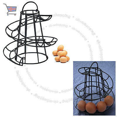 Spiral Helter Skelter Küchenspeicher Egg Holder Stand Rack fasst bis zu 18 Eier