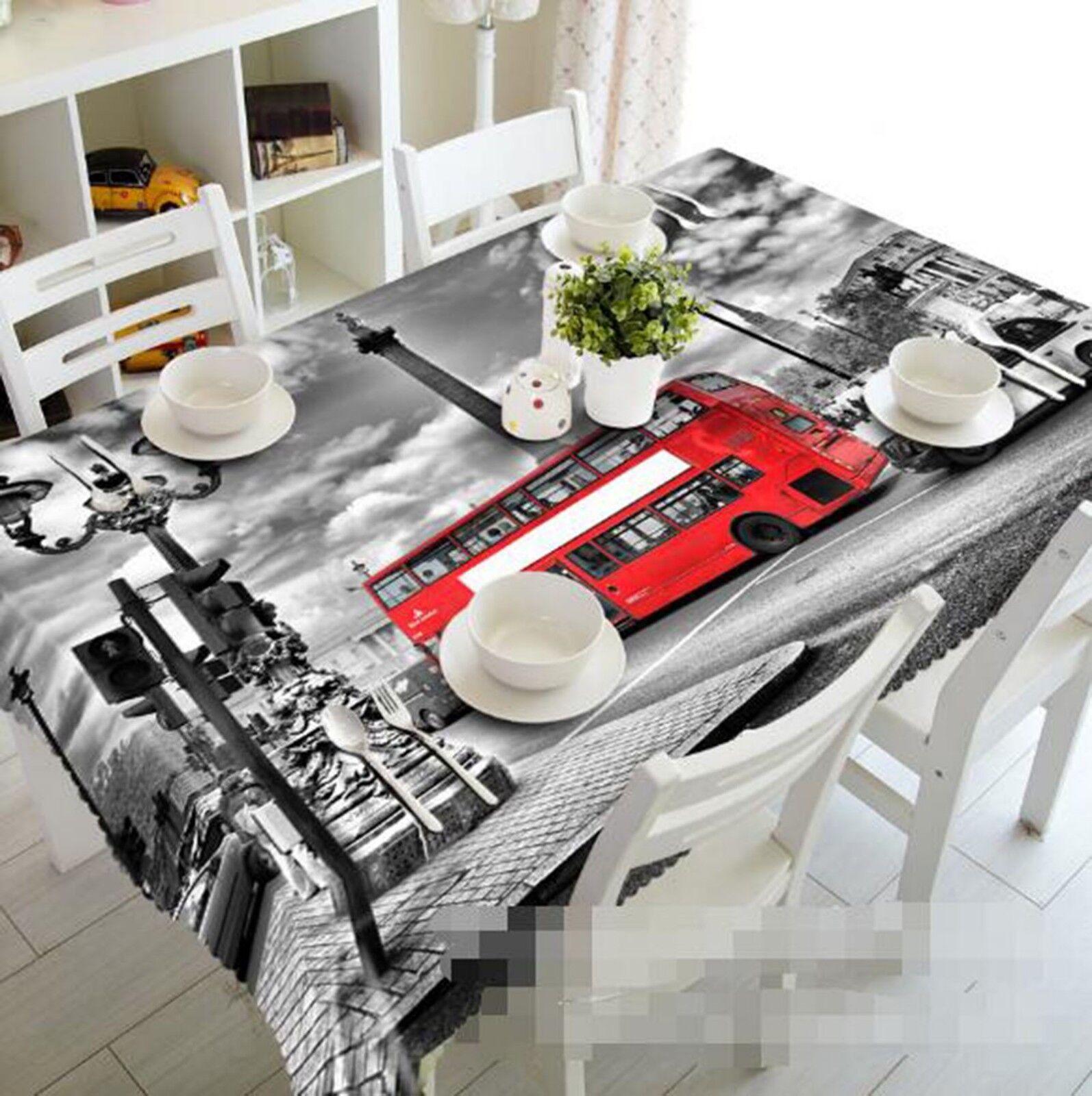3D Paint Bus 029 Tablecloth Table Cover Cloth Birthday Party Event AJ Lemon