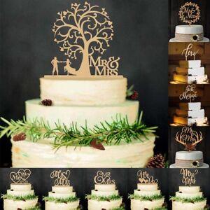 Personifiziert Hochzeit Kuchen Topper Hochzeit Dekoration Holz Neu