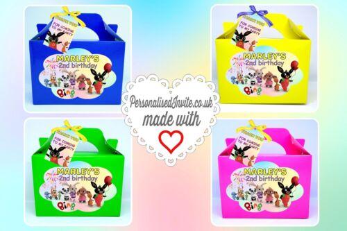 Toddler themed decor Cbeebies x1 Bunny Bing Flop Party box Birthday loot bag