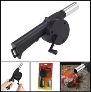 Hand Crank Wind Powered Cooking Bbq Fan Air Blower For