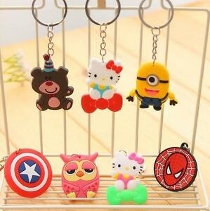 Soft-Rubber-Minions-Cartoon-Characters-Spider-Man-Party-Gift-Key-Rings-Key-Chain