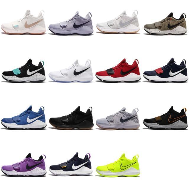 the latest 7559f b15a0 Nike Paul George 1 Mens Basketball Shoes US Sz 10 Black W Gum Sole