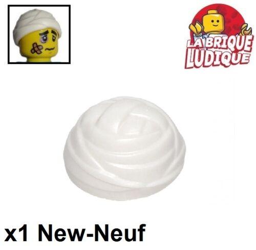 Lego 1x Minifig headgear hat wrapped bandage pansement blanc//white 24073 NEUF