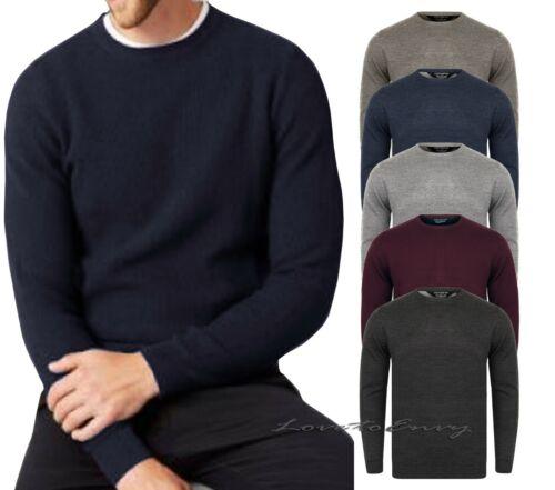 Da Uomo Misto Lana morbida Kensington EX Stores Lavorato a Maglia a maniche lunghe maglione girocollo.