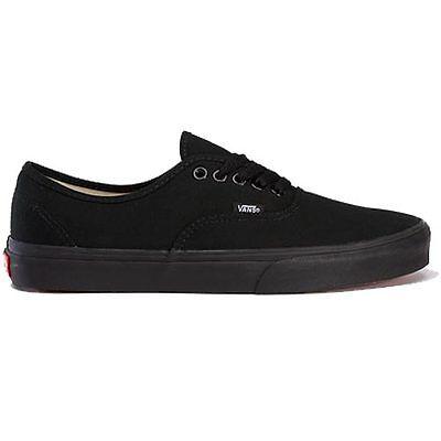 Vans Authentic Unisex Shoe Black All Sizes
