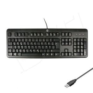 HP-KU-1156-PC-Office-Business-Tastatur-Keyboard-USB-QWERTZ-Deutsches-Layout