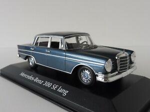 MERCEDES-BENZ-300-se-lungo-1963-1-43-MAXI-Champs-940035200-Minichamps-w111-Blue