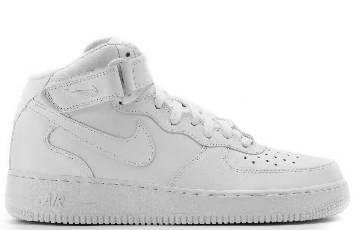 Nike Mens Air Force 1 Mid Running shoes 315123-111 White White Size 14