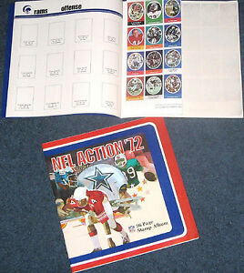 1972-NFL-Sunoco-Football-Saver-Stamp-Album-Guide-UNUSED-Colts-Patriots-Raiders