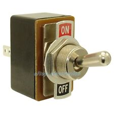 Double Pole ON-ON Flick Toggle Switch with Plate 250V 1.5A Car Dash Light #SW13