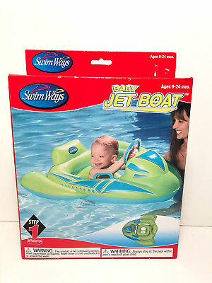 High Resilience Bright Swim Ways ~ Baby Jet Boat ~ New In Box ~ 9-24 Mos Pools & Spas