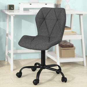 Groovy Details About Sobuy Adjustable Swivel Armless Desk Study Chair With Fabric Seat Fst66 Hg Uk Gmtry Best Dining Table And Chair Ideas Images Gmtryco