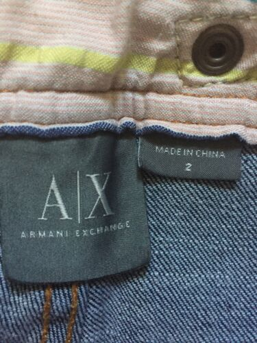 Axe Crop Wash Stretch 2 Exchange Armani Dark Ladies Pantaloni donna Jeans Sz xXFt6pw