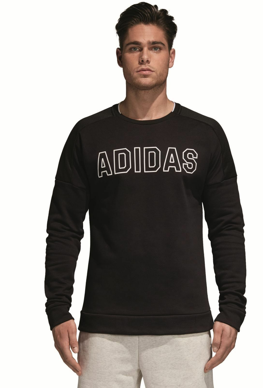 Adidas Performance Sport Uomo Tempo Libero Sport Id Sweatshirt Pile Nero