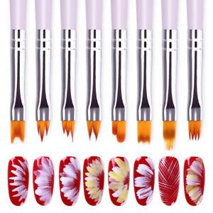 Nail-Art-Gradient-Design-Acrylic-Brush-Painting-Flower-UV-Gel-Pen-Brushes-Tool