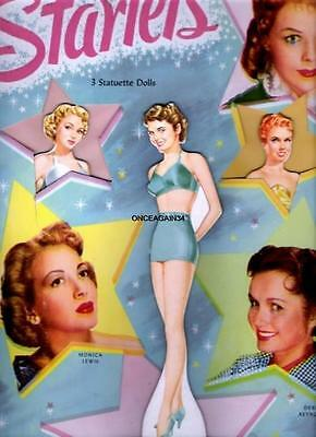 VINTAGE UNCUT 1942 MOVIE STARLETS PAPER DOLLS~#1 REPRODUCTION~NOSTALGIC//RARE SET
