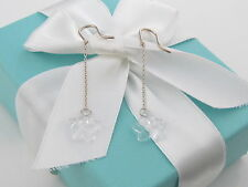 Brand New Tiffany & Co Silver Elsa Peretti Star Crystal Earrings