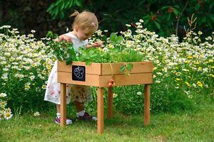 Kinder Hochbeet Mit Kreidetafel Kräuterbeet Pflanzbeet Terrasse