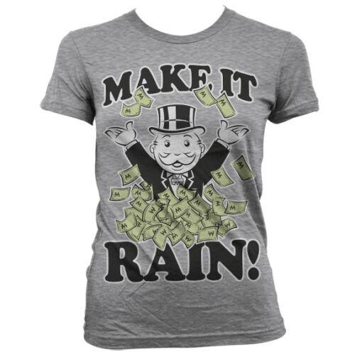 Officially Licensed Monopoly Make It Rain Women T-Shirt S-XXL Sizes