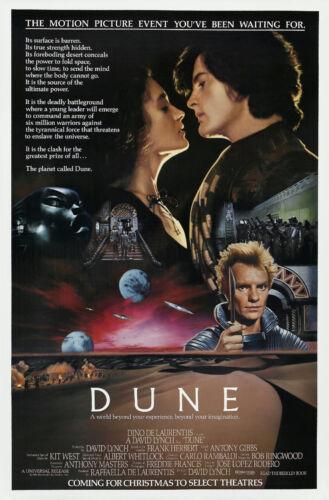 DUNE Movie Poster Sci Fi 1984